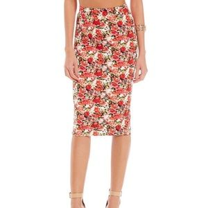 Gianni Bini Bethany Rose Bouquet pencil skirt NWT